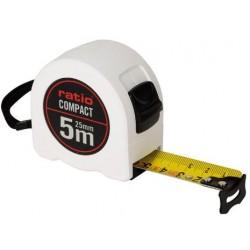 FLEXOMETRO CINTA 25/5 MTS.COMPACT RATIO