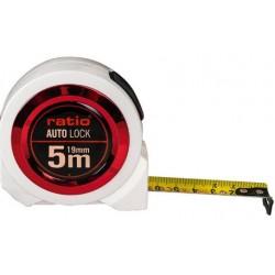 FLEXOMETRO CINTA 19/5 MT.AUTO LOCK RATIO