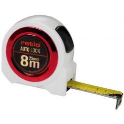 FLEXOMETRO CINTA 25/8 MT.AUTO LOCK RATIO