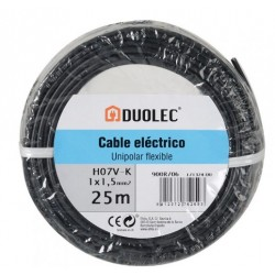 CABLE ELECTRICO 1,5 MM X25M NEGRO DUOLEC