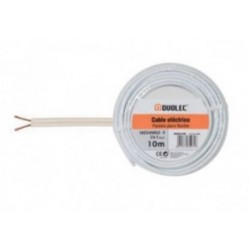 CABLE ELECT.PARALELO 2X1 25M BLAN DUOLEC