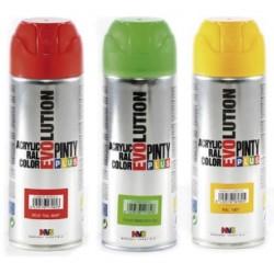 PINTURA SPRAY ACRILICA NEGRO MATE 400ML