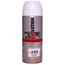 PINTURA SPRAY ACRIL.BLACO SATIN.400ML