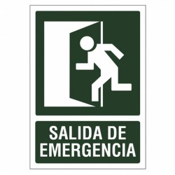 SEÑAL 210X297 PVC SALIDA EMERGENCIA