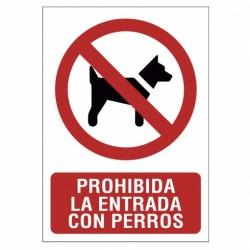 SEÑAL 210X297 PVC PERRO NO