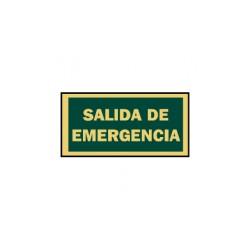 SEÑAL 297X105 PVC SALIDA EMERGENCIA