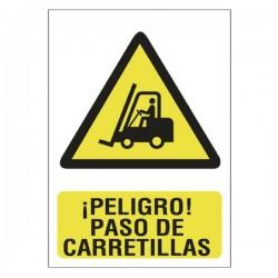 SEÑAL 210X297 PVC PEL.PASO CARRETIL