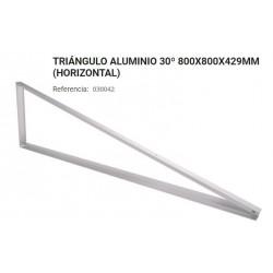 TRIANGULO ALUMINIO 30º 800X800X429 HORIZ