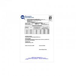 Certificado calibracion presion con traz
