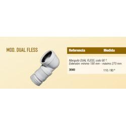 MANGUITO DUAL FLESS CURVO EXT90º SOLFLES