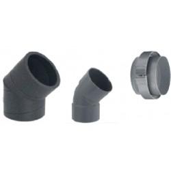 Codo ventilación 45º (80/125) aroSTOR