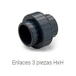 ENLACE 3 P H-H Ø25 ENC PVC PRESION