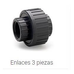 """ENLACE 3 P H-H ROSCAR """"3/4 PVC PRESION"""